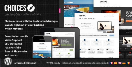 Choices – Responsive Business and Portfolio Theme by ThemeForest