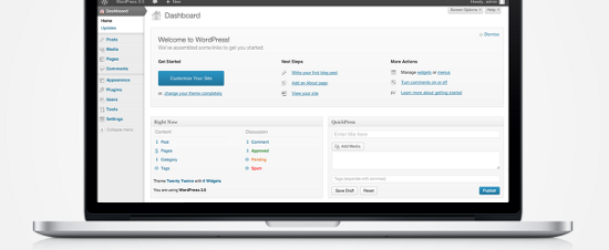 WordPress 3.5 First Look